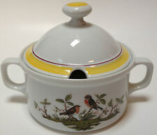 Royal Tettau Wood Song Sauce Gravy Boat With Lid Birds Germany Woodsong RARE
