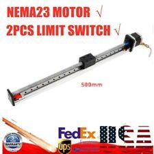 Electric Slide Linear Motion Travel Actuator Nema23 Motor SFU1605 500mm CNC Mill