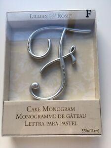Lillian Rose Monogram Cake Topper Letter F Silver Rhinestone Monogram - F New
