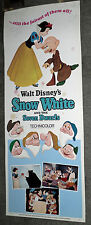 SNOW WHITE AND THE SEVEN DWARFS original ROLLED 14x36 insert movie poster DISNEY