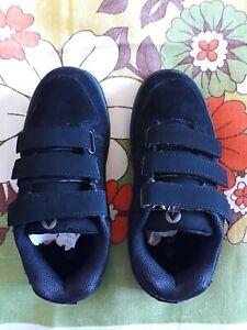 AIRWALK Junior Kids Brock black suede sneakers school shoes skate AU C12 (31)
