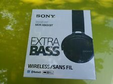 Sony **NEW** Extra Bass Bluetooth Headphones MDRXB650BT BLACK SEALED hands free