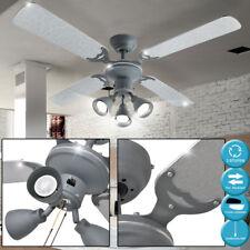 Ventilateur de plafond avec interrupteur à tirette ciment Design Rétro bureau