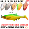 Savage Gear 3D River Roach Paddle Tail Loose Body or Loaded Jig Head and Stinger