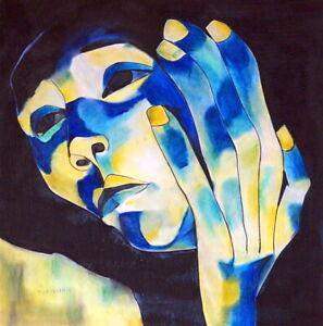 OSWALDO GUAYASAMIN / Authentic Pastel on Paper Signed.  Expressionism