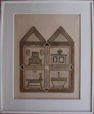 Gravure de LOUTTRE B. BISSIERE signée numérotée etching Villa mon rêve 1974