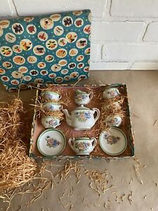 Vintage Childs Tea Set In Original Box And Packaging, Made In Japan