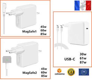 Chargeur alimentation compatible MAGSAFE 1 2 45w 60w 85W pour Macbook air pro