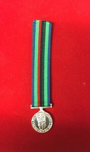 RUC Royal Ulster Constabulary Service Medal With George Cross Ribbon Miniature