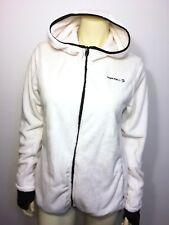 Merrell Super Soft Full Zip Fleece Select Regulate Hood Jacket Ivory Large