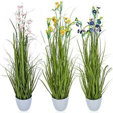 95cm Artificial Colored Plant Flower Stone Pot Home Tree Decoration Realistic