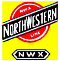 C & NW BOXCAR ADHESIVE STICKER for American Flyer S Gauge Scale Trains Parts