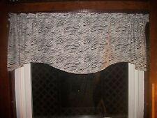 Black White Zebra Jungle Animal girls bedroom fabric curtain topper Valance
