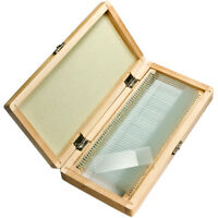 Barska 50 Pc of 3 Inches Microscope Blank Glass Slides in Wooden Case, AF11636