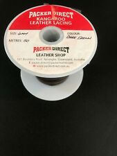 Kangaroo Lace 50 Meters (164 feet) 4Mm Dark Brown- Tough Lacing Leather
