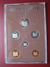 Sierra Leone 1980 6 coin set coinage PROOF 1/2 - 50 Cents by Royal Mint