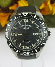 Men's Tommy Bahama Relax 10ATM Watch Black / Gray Silicone Band A126