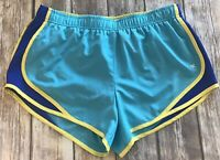 XERSION Women's Shorts XL Blue Semi-Fitted Lined drawstring Running Athletic