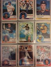 1983 TOPPS Baseball Cards. Stars & Commons. Up to 20 cards to Complete Your Set.
