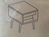 Nachttisch Holz 39x39x41cm Nachtschrank Kommode Schrank Tisch Retro Vintage 16
