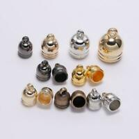50pcs Tassel End Bead Caps Leather Cord Crimps Stopper for Jewelry Making 7-14mm