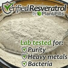 25 grams PlantPills Micronized Trans-Resveratrol Powder >99% Certified Purity