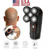Men Electric Shaver Beard Hair Trimmer Bald Razor 5 Head Floating Rechargeable