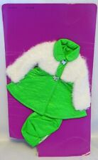 VINTAGE VELVET DOLL OUTFIT, NEW ON CARD, 1972 IDEAL CRISSY FAMILY