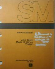 John Deere 40 Tractor Crawler Hi-Crop Utility Master Service Manual 468p Sm-2013