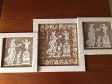 Trittico 800 Di Quadri A Filet Eros e Venere