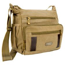 """Brown Laptop Notebook Canvas Shoulder Messenger Bag For 13.3"""" MacBook Air / Pro"""