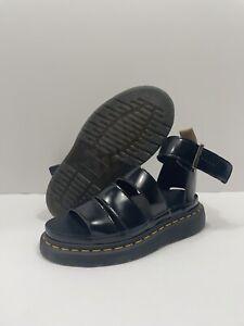 Dr. Martens VEGAN CLARISSA II Women's Shoes Leather Sandals 26372001 Black