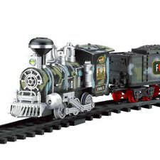 Kids Classic RC Military Train Set with Real Smoke - Remote Control Train