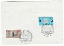 LETTRE COMMEMORATIVE ALLEMAGNE TIMBRE N° 1008 / 1007 EUROPA OEUVRES GENIE HUMAIN