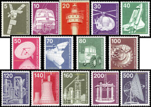 EBS Germany 1975 - Industry and Technology (I) - Michel 846-859 MNH**
