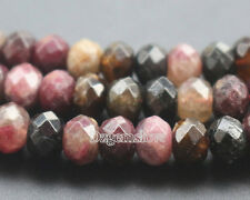 Natural Tourmaline Gemstone Beads Faceted Beads Loose Rondelle Beads 5x8mm 15''