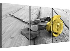 Yellow Rose Canvas Art 3 Panel for your Living Room