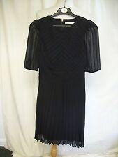 Ladies Dress Karen Millen black, pure silk, UK 8, pleats, lined, formal 2191