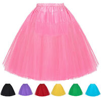 Plus Size Petticoat Tulle Tutu Skirt Vintage 50s Fancy Bridal Underskirt Wedding