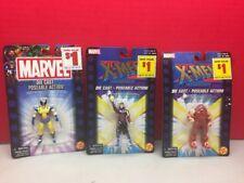 Die Cast Poseable Figure Lot Marvel X-Men Wolverine Gambit Juggernaut Toy Biz