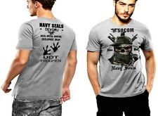 Navy Seals T-Shirt Boonie Hat SOCOM UDT Frogmen Never Quit DEVGRU 2 SIDED PRINT