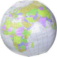 Inflatable Globe 40cm World Map Educational Geography Beach Ball
