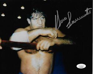 BRUNO SAMMARTINO WWF WWE SIGNED AUTOGRAPH 8X10 PHOTO #3 JSA COA