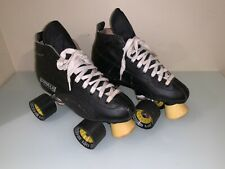 Vintage Formula Speed Pacer Quadcruiser Rollerskates Size 4 Black Sonic Wheels