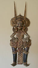 Barong Dancer Wall Art Sculpture Decor Wood Carved and Painted from Bali