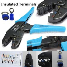AWG22-10 Insulated Terminals Ratcheting Crimper Double Crimp For Crimping Pliers