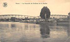 AK Namur La Passerelle du Confluent de la Sambre Brücke Boot Postkarte 1916