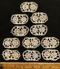 Antique Handmade Reticella Lace Motifs Set of Eleven Italy 1910-20!