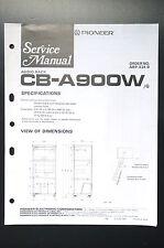 PIONEER CB-A900W Original Service-Manual/Service-Anleitung/Schaltplan! o26