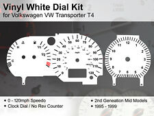 VW Transporter T4 (1995 - 1999) Mid Models - 120mph NR - Vinyl White Dial Kit